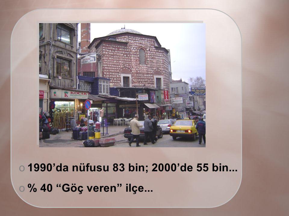 o1990'da nüfusu 83 bin; 2000'de 55 bin... o% 40 Göç veren ilçe...