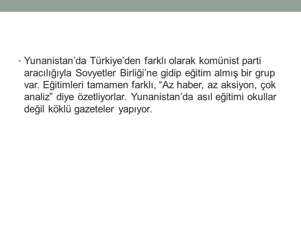 Türkiye'de gazetecilik okulları yıllardır var.Üniversite düzeyinde veriliyor.