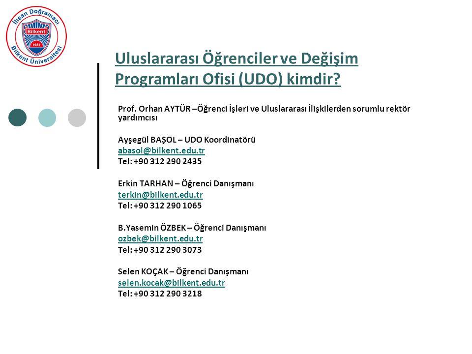 Uluslararası Öğrenciler ve Değişim Programları Ofisi (UDO) kimdir.