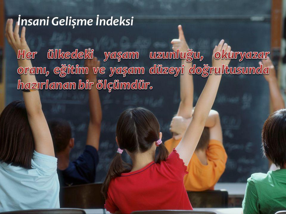 Mehmet Ali ERCAN Balıkesir Merkez Bahçelievler Anadolu Lisesi İnsani Gelişme İndeksi