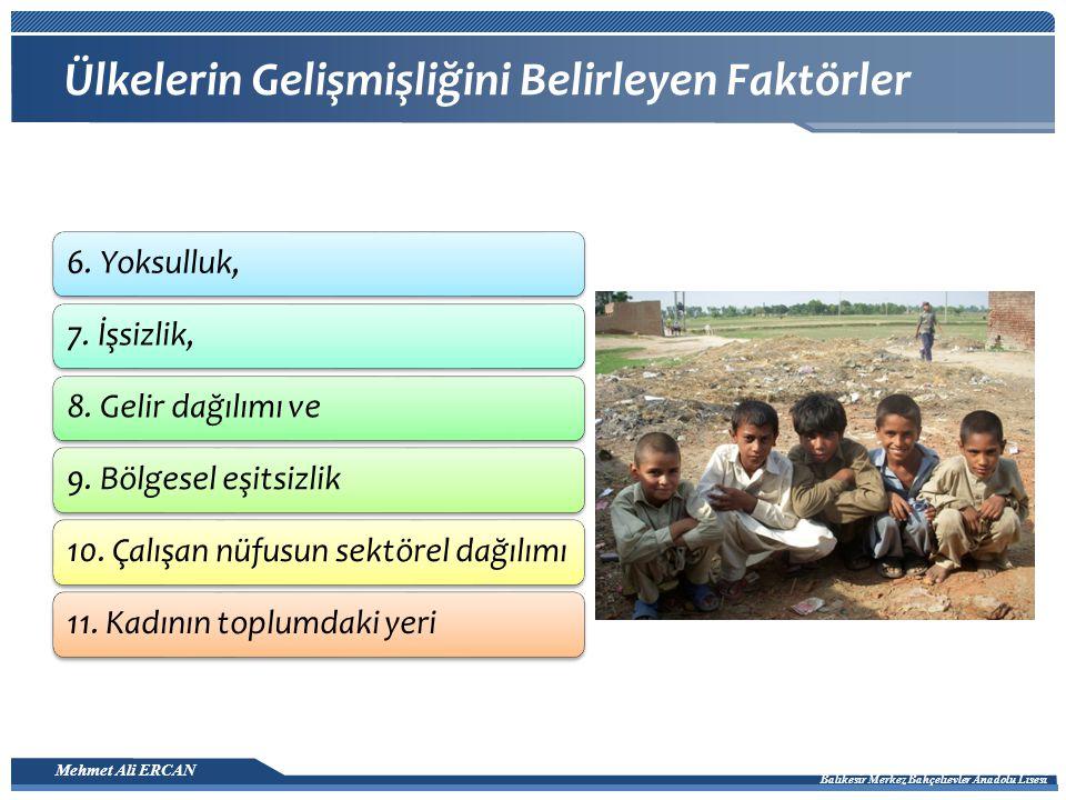 Mehmet Ali ERCAN Balıkesir Merkez Bahçelievler Anadolu Lisesi Dünya İnsani Gelişme Endeksi Dağılım Haritası 2010