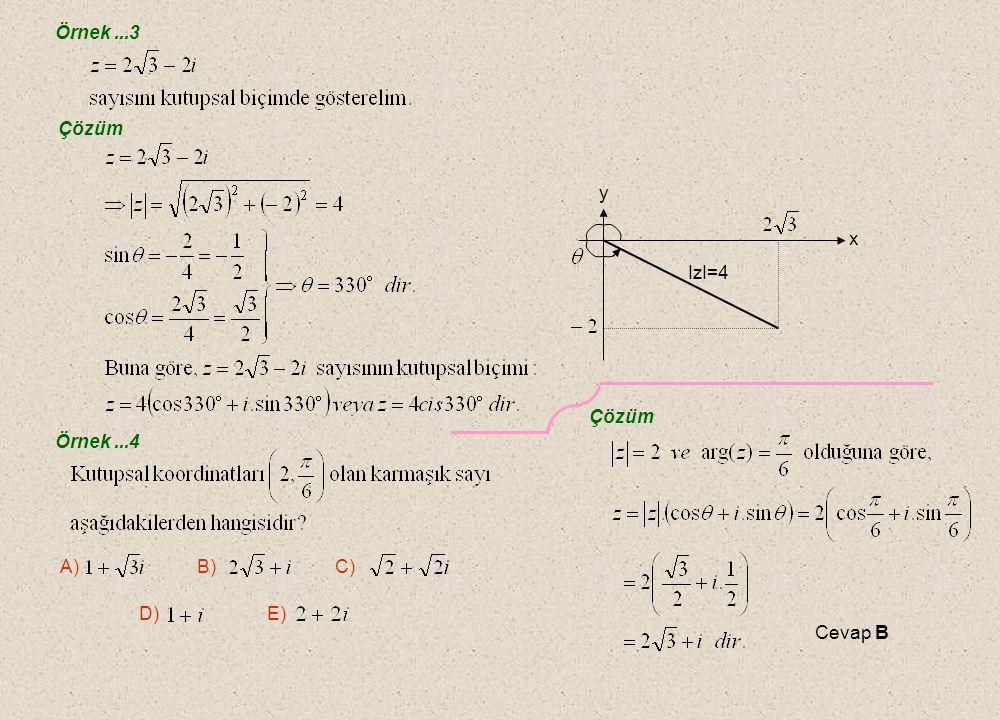 Örnek...1 Çözüm Örnek...2 Çözüm