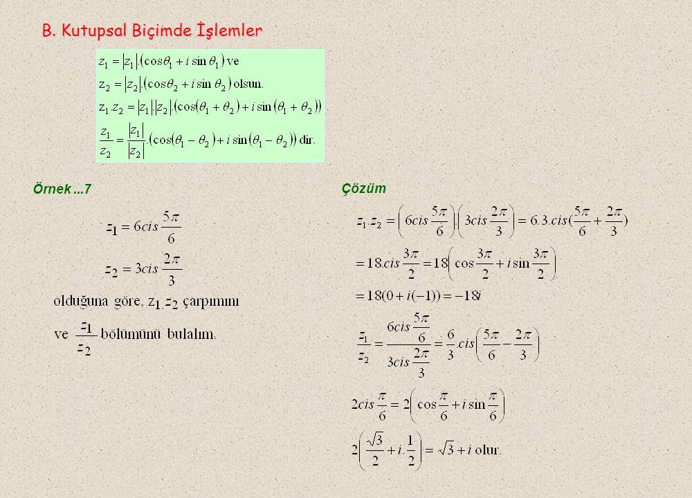 Örnek...6 A) B) C) D) E) Çözüm Cevap B M P y x