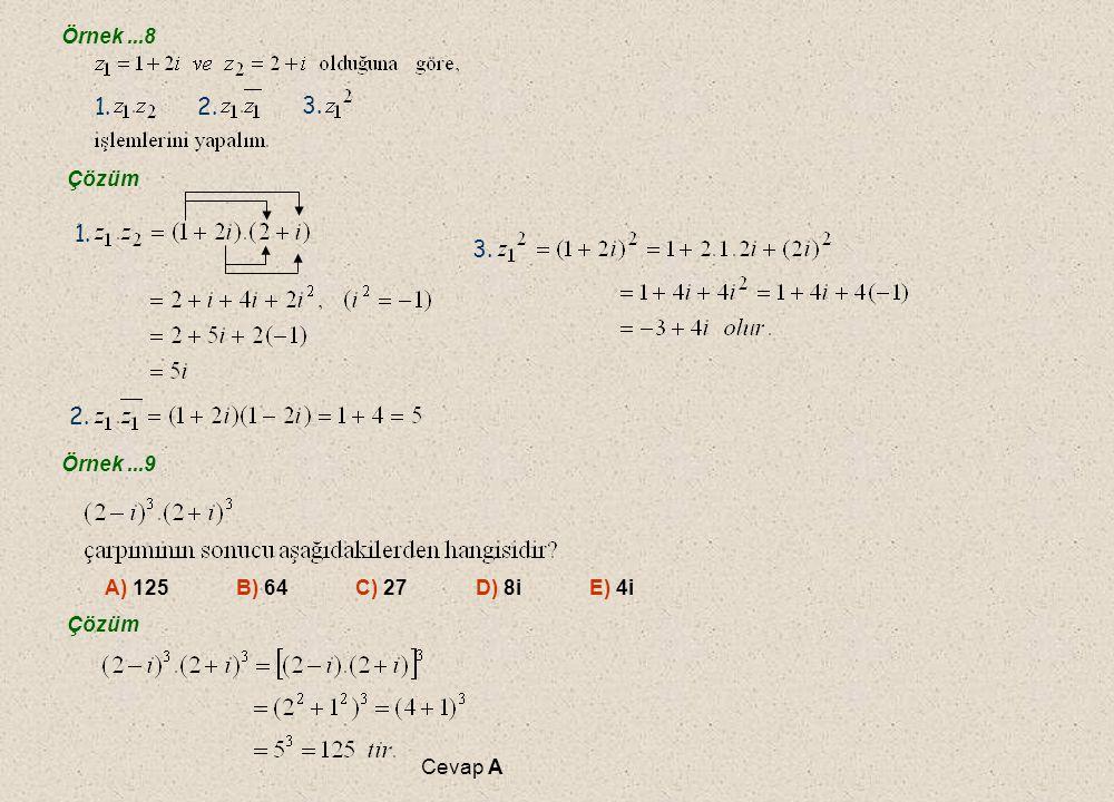 E.Karmaşık Sayılarda Dört İşlem E. Karmaşık Sayılarda Dört İşlem 1.