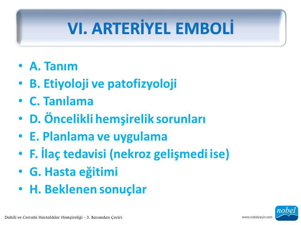 A. Tanım B. Etiyoloji ve patofizyoloji C. Tanılama D.