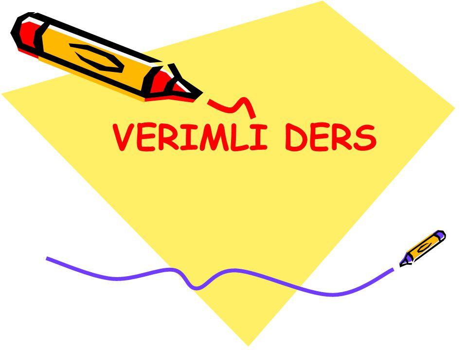 VERIMLI DERS
