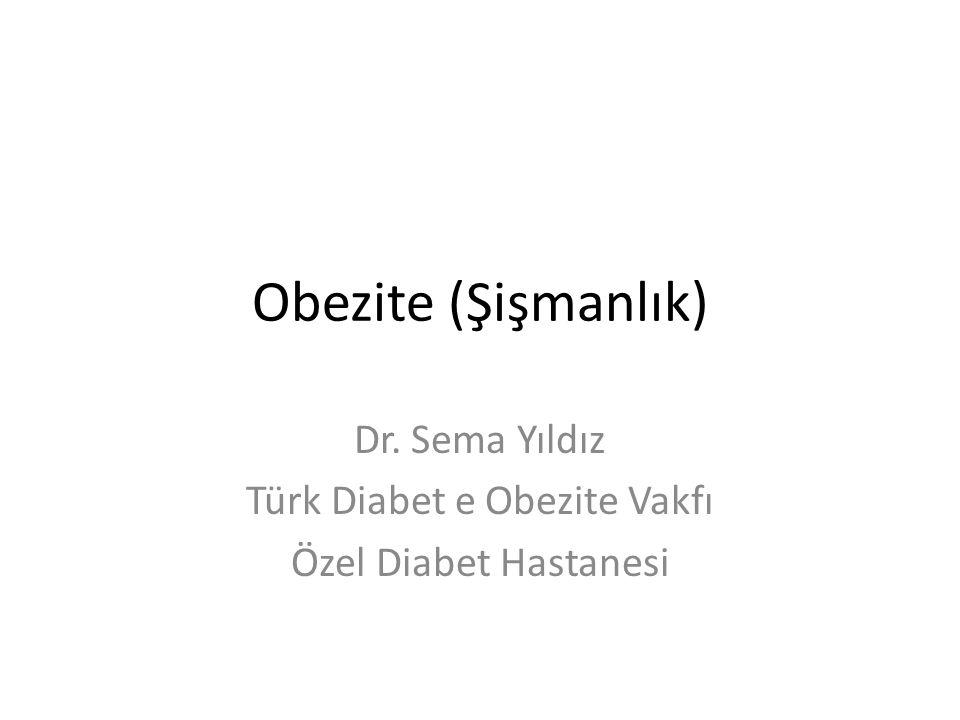 Obezite (Şişmanlık) Dr. Sema Yıldız Türk Diabet e Obezite Vakfı Özel Diabet Hastanesi