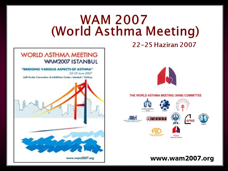 126 WAM 2007 (World Asthma Meeting) 22-25 Haziran 2007 www.wam2007.org