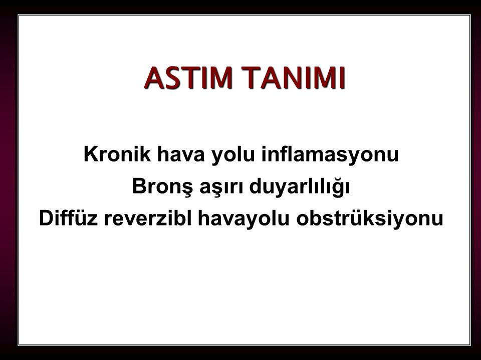 2 ASTIM TANIMI Kronik hava yolu inflamasyonu Bronş aşırı duyarlılığı Diffüz reverzibl havayolu obstrüksiyonu