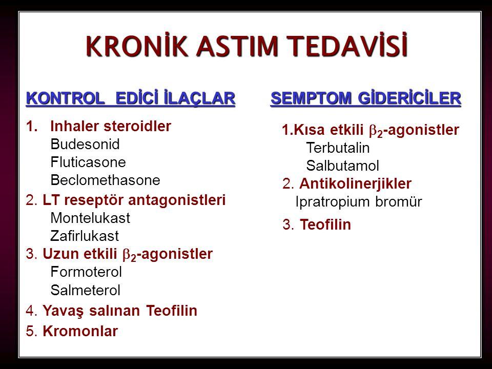 66 KRONİK ASTIM TEDAVİSİ KONTROL EDİCİ İLAÇLAR 5.