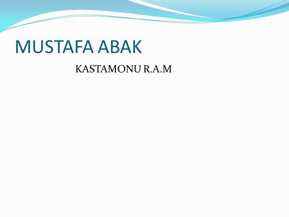 MUSTAFA ABAK KASTAMONU R.A.M