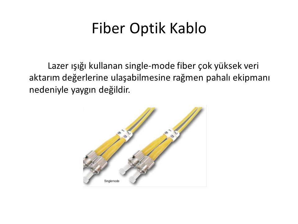 Fiber Optik Kablo Lazer ışığı kullanan single-mode fiber çok yüksek veri aktarım değerlerine ulaşabilmesine rağmen pahalı ekipmanı nedeniyle yaygın de