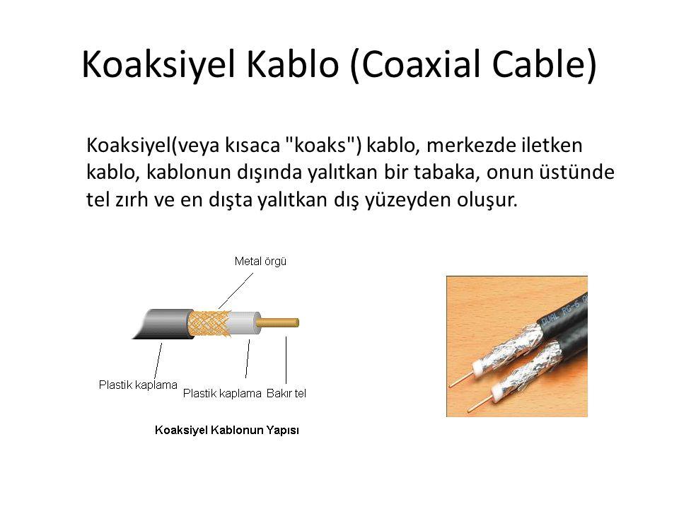 Dolanmış Çift Kablo (Twisted Pair Cable) Günümüzde en yaygın kullanılan ağ kablosu tipi birbirine dolanmış çiftler halinde, telefon kablosuna benzer yapıdaki kablodur.