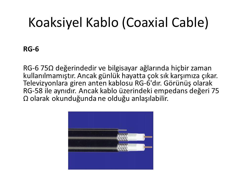 Düz kablo (Straight-Through Ethernet Cable) 568A 568A veya 568B 568B olmalıdır.