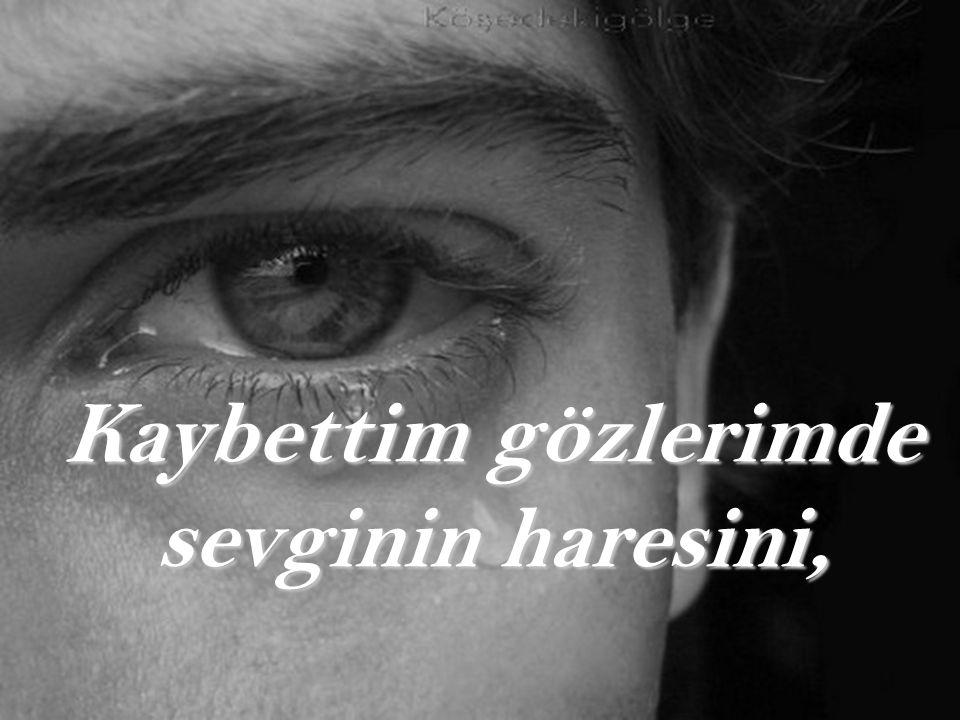 Kaybettim gözlerimde sevginin haresini,
