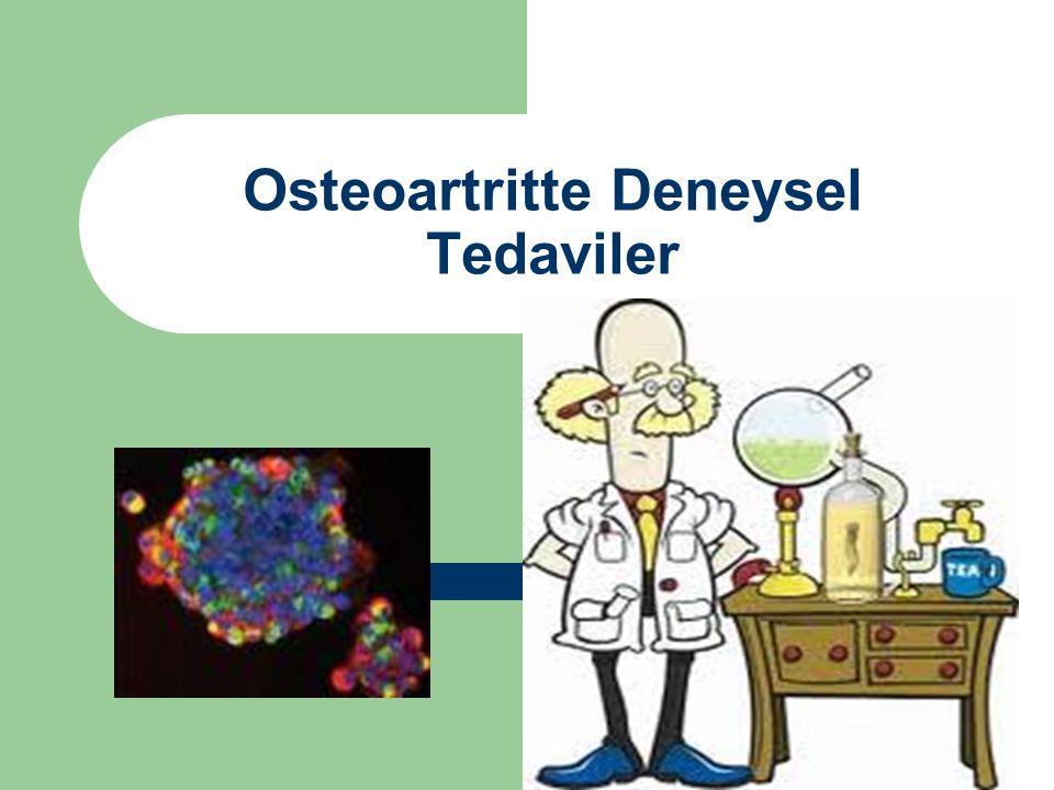 Osteoartritte Deneysel Tedaviler