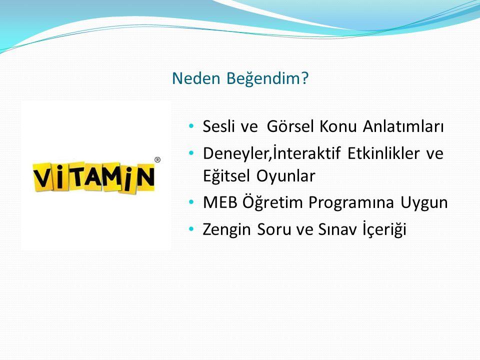 En Beğendiğim 3 Site http://www.vitaminegitim.com/ https://www.astronot.com.tr/Default.aspx http://www.akilliogretimsistemi.com/