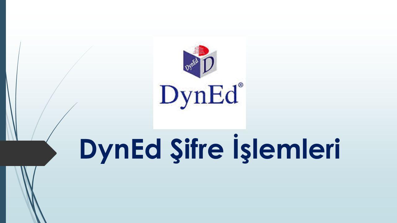 DynEd Şifre İşlemleri