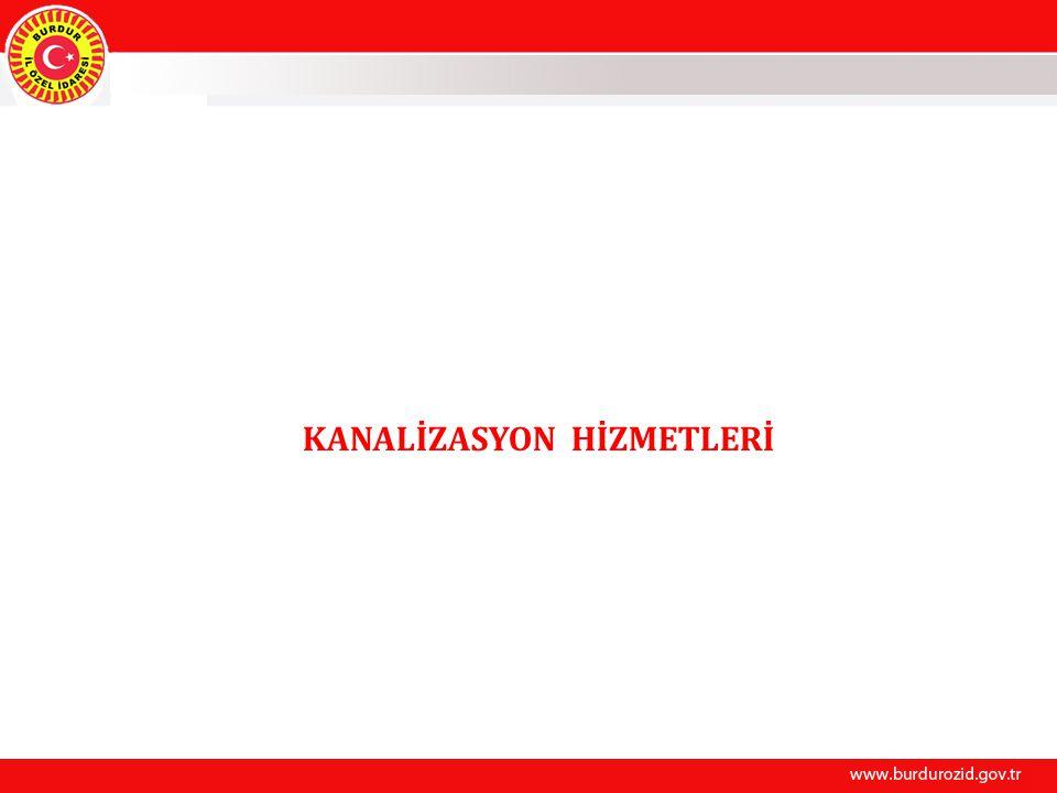 KANALİZASYON HİZMETLERİ