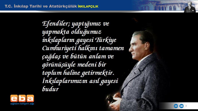 5 Mustafa Kemal, inkılapları koruma görevini gençlere vermektedir.