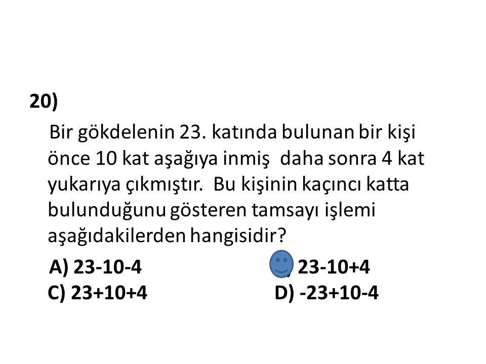 20) Bir gökdelenin 23.