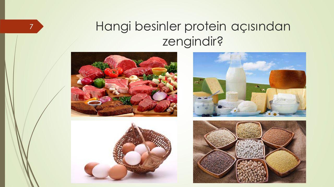 Hangi besinler protein açısından zengindir? 7