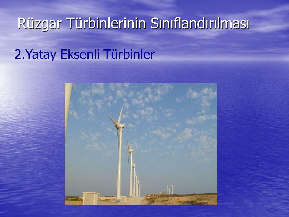 Rüzgar Türbinlerinin Sınıflandırılması 2.Yatay Eksenli Türbinler