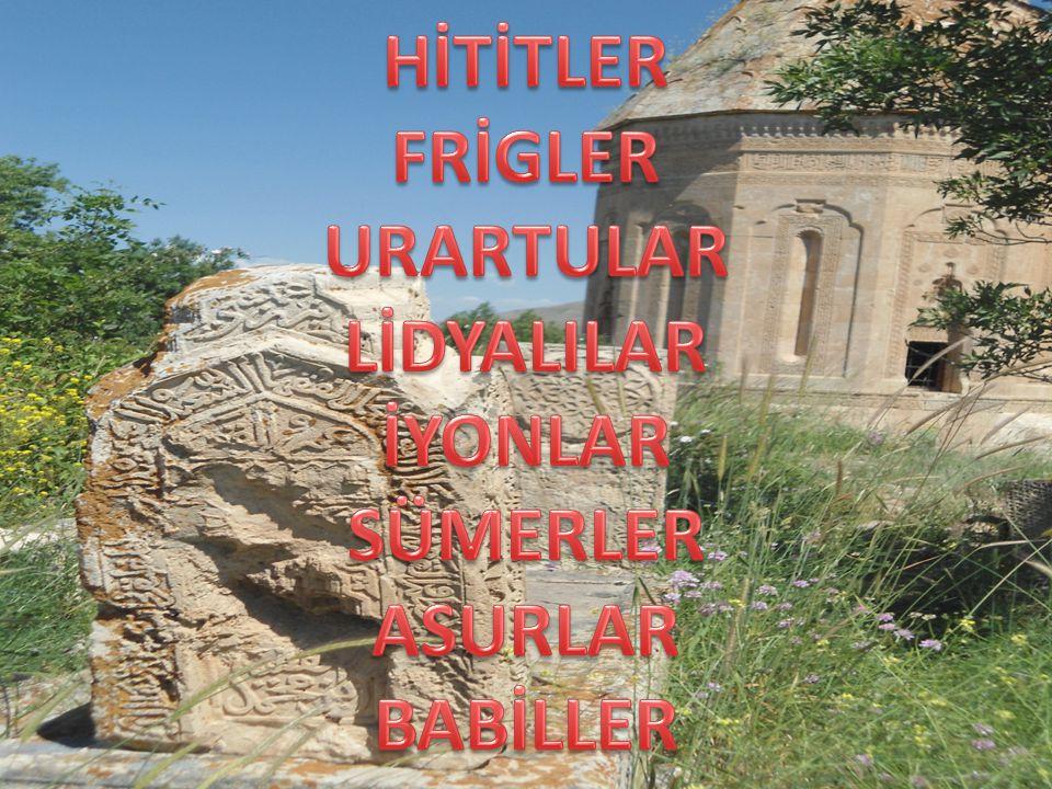 HİTİTLER Anadolu'nun ilk büyük devletidir.İç Anadolu Bölgesi sınırlarında kurulmuştur.