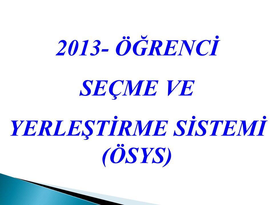 Puan Türü Testlerin Ağırlıkları % YGSLYS (LYS-1+LYS-2) Türkçe Sosyal Bil.