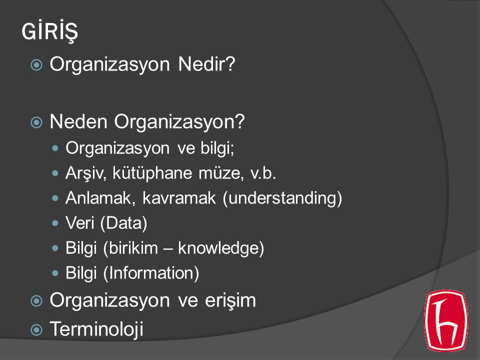 GİRİŞ  Organizasyon Nedir.  Neden Organizasyon.