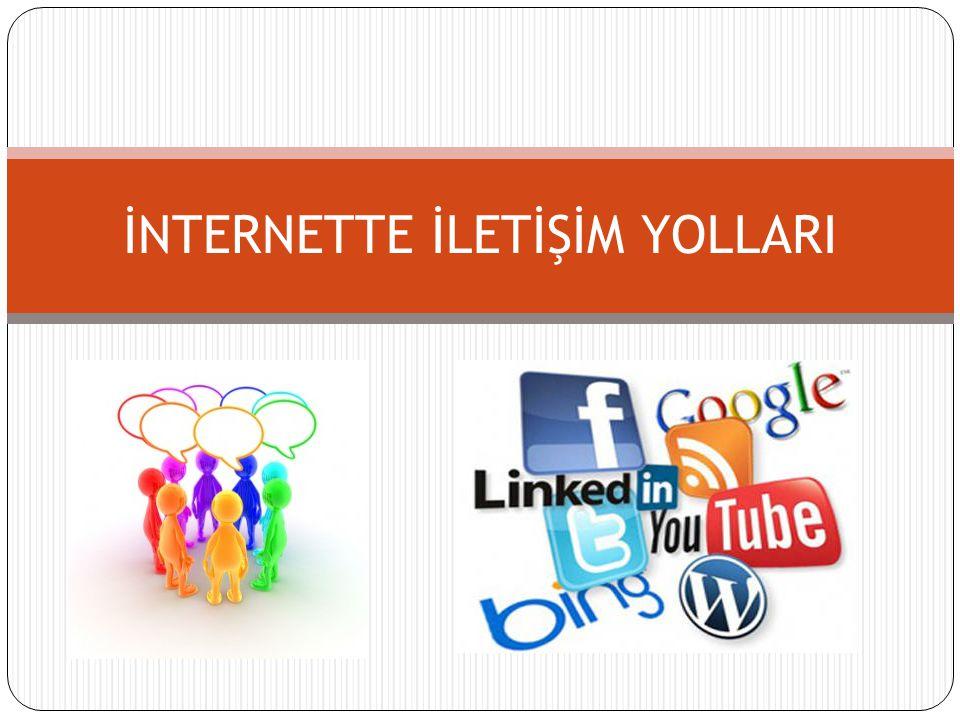 Bir Soru İnternet ortamında farklı ortamlarda bulunan kişiler nasıl iletişim kurmaktadırlar?