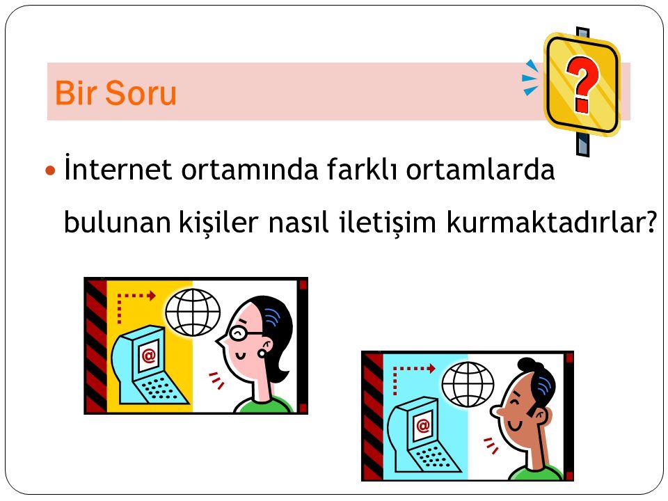 İnternette İletişim Yolları 1.Sosyal Paylaşım Siteleri 2.