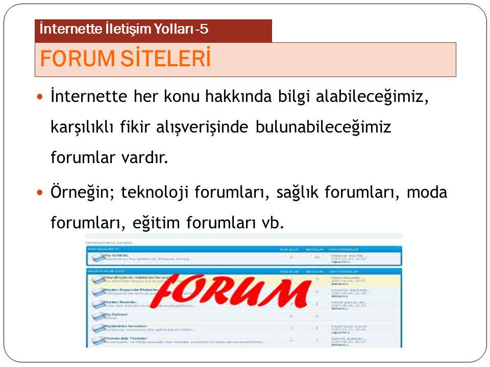 Forum sitelerinde misafir olarak gezinebilir, konuları inceleyebiliriz.
