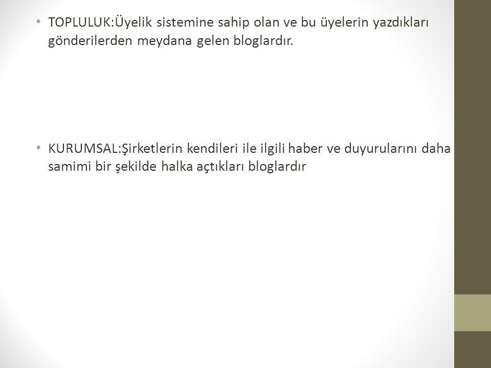 TÜRKİYEDE BLOG 2005 yılında hizmet vermeye başlayan Türkçe blog servisi Blogcu.com 2 sene içinde 370 bin üyesi ile Türkiye de en çok okunan 10.