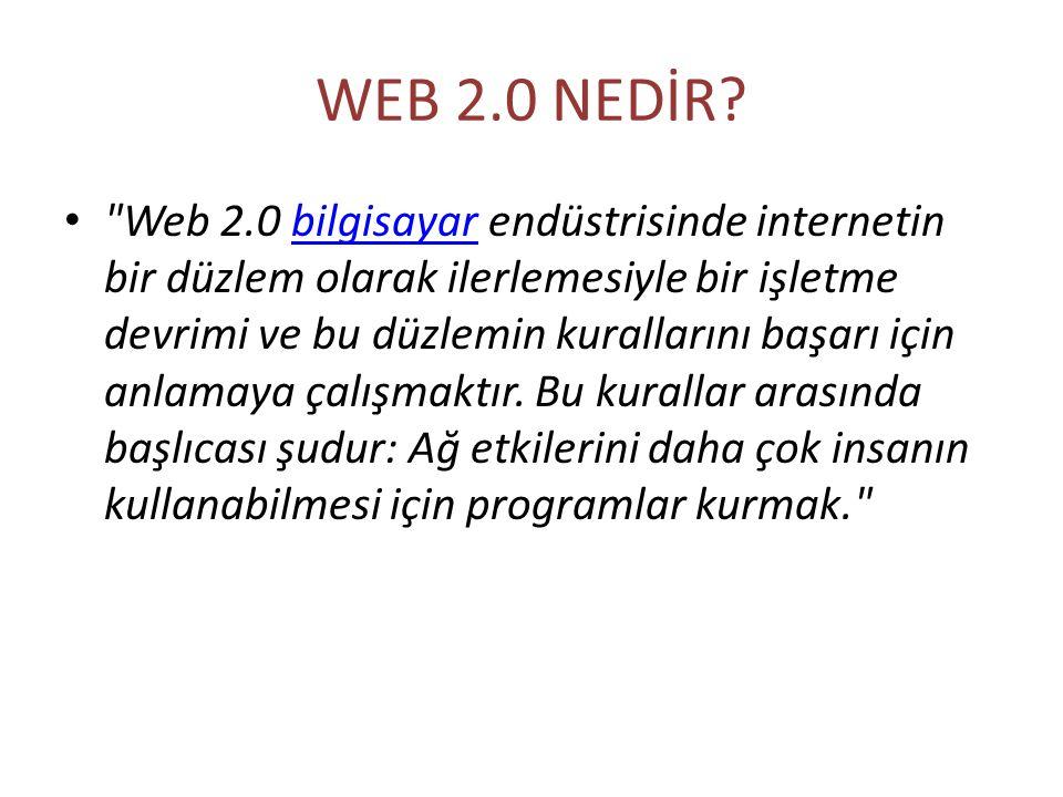 WEB 2.0 NEDİR?