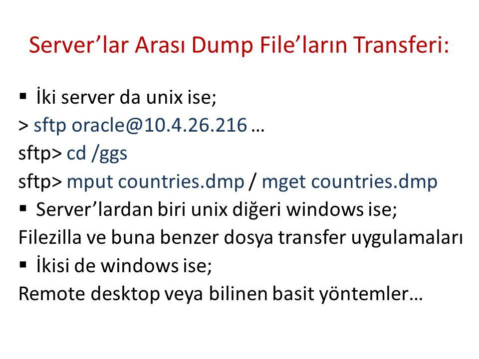 Oracle Kapanma Modları  SHUTDOWN [ NORMAL ] : Pek kullanılmaz.