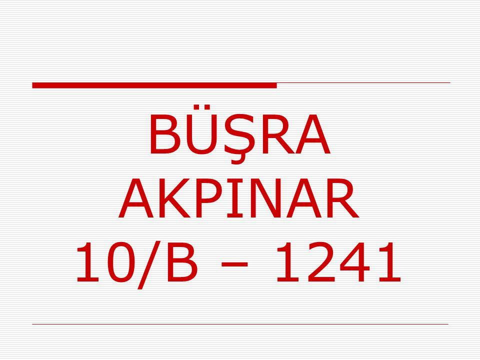 BÜŞRA AKPINAR 10/B – 1241