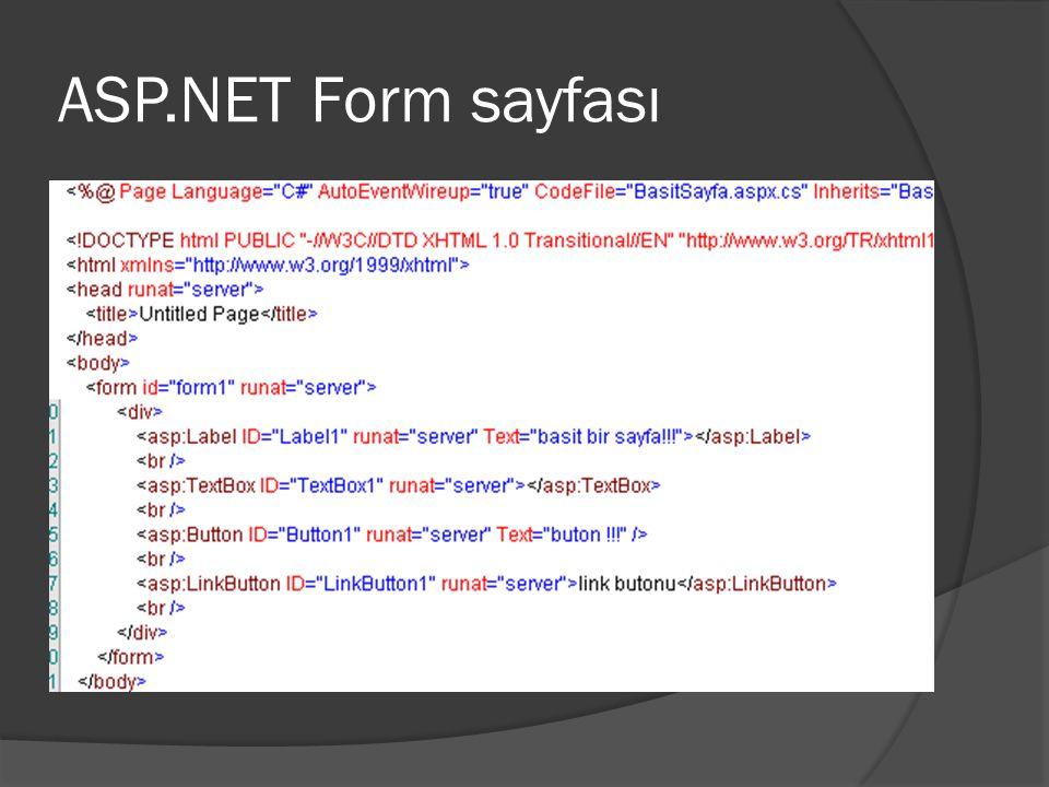 ASP.NET Form sayfası