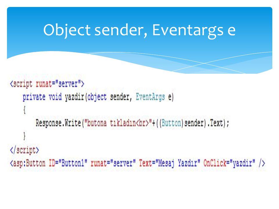 Object sender, Eventargs e