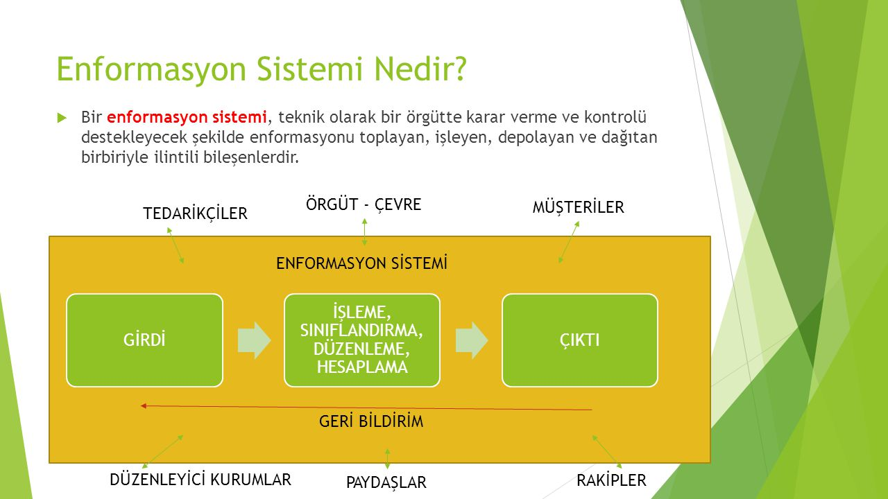Enformasyon Sistemi Nedir.