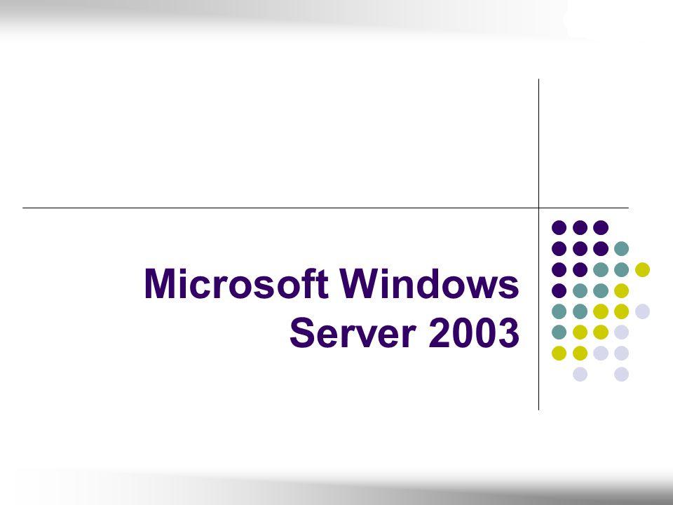 Gelişmiş Active Directory özellikleri Group Policy yönetim konsolu, yeni politikalar Volume Shadow Copy / Restore Internet Information Services (IIS) 6.0 Entegre.NET altyapısı (.NET Framework) Komut satırından yönetim Clustering çözümleri (8-node destekli) Güvenli kablosuz LAN desteği (802.1X) Tehlike anında yönetim (Headless Server Support) 64-bit donanım desteği Terminal servisinde; Group Policy desteği Önemli Özellikleri