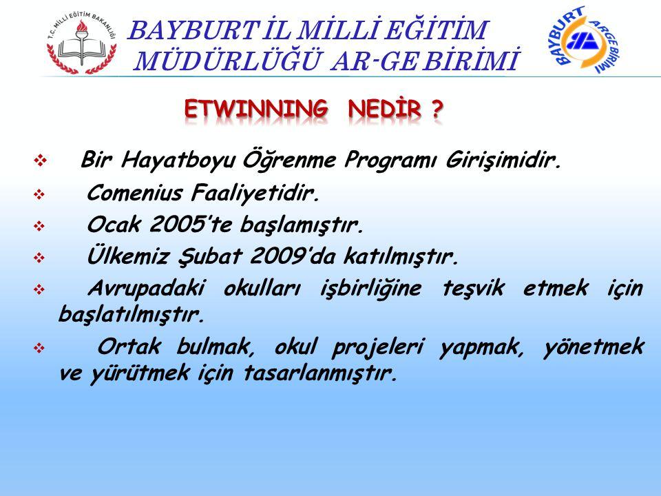  Bir Hayatboyu Öğrenme Programı Girişimidir.  Comenius Faaliyetidir.  Ocak 2005'te başlamıştır.  Ülkemiz Şubat 2009'da katılmıştır.  Avrupadaki o