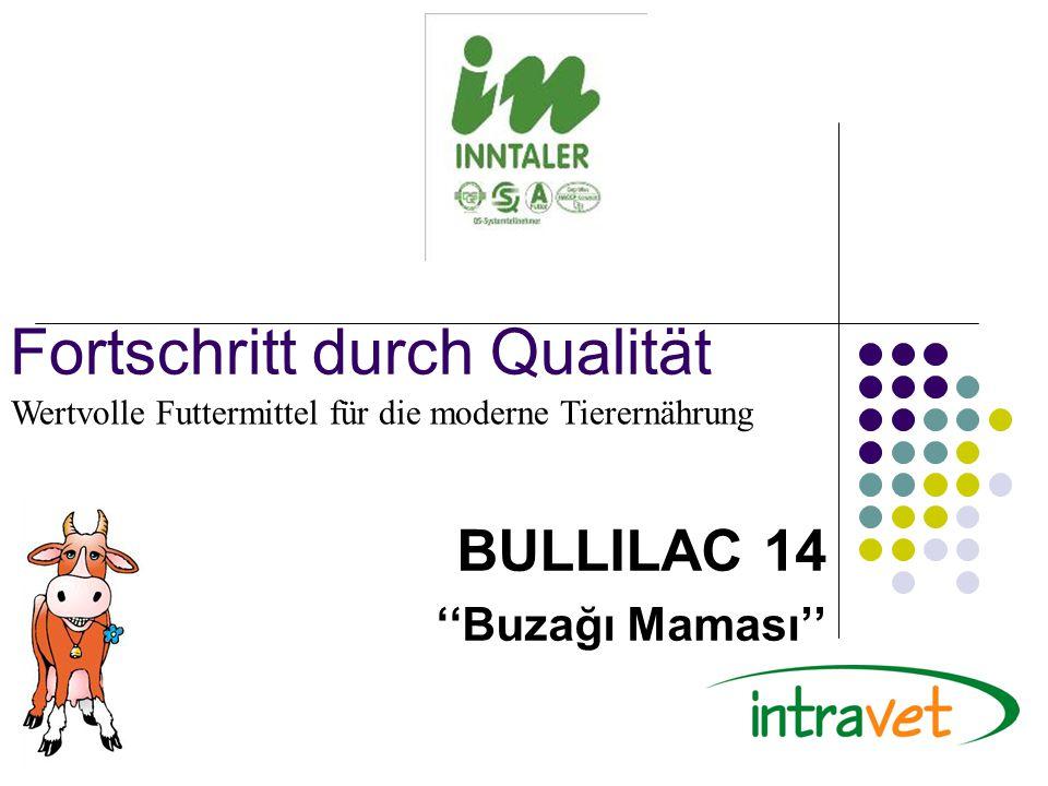 Fortschritt durch Qualität BULLILAC 14 ''Buzağı Maması'' Wertvolle Futtermittel für die moderne Tierernährung