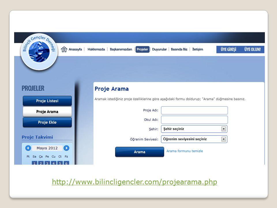 http://www.bilincligencler.com/projearama.php