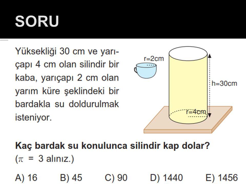  Özkütlesi 0,8 g/cm 3 olan bir sıvının 56 gramı kaç cm 3 tür?