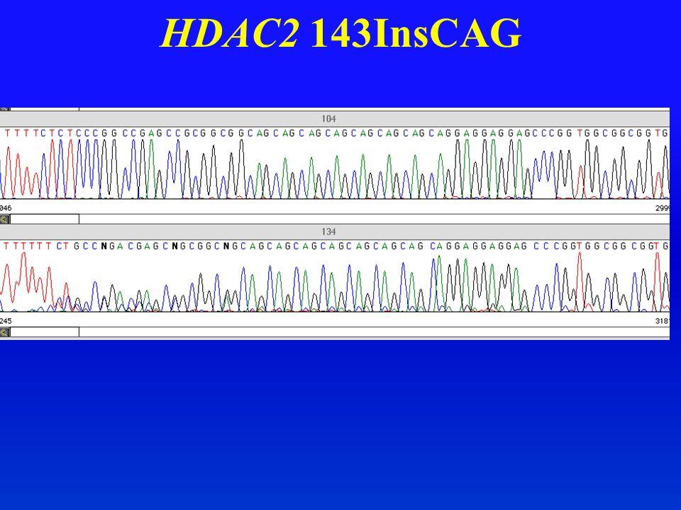HDAC2 143InsCAG