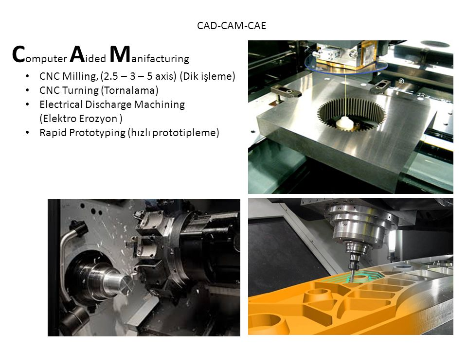 CAD-CAM-CAE C omputer A ided E ngineering Simulation (Finite Element Analysis) Part analysis Linear static Non linear Boundry conditions Loadings Solve Post processing Assembly analysis Motion analysis Optimization Fatique Fluid analysis Thermal analysis