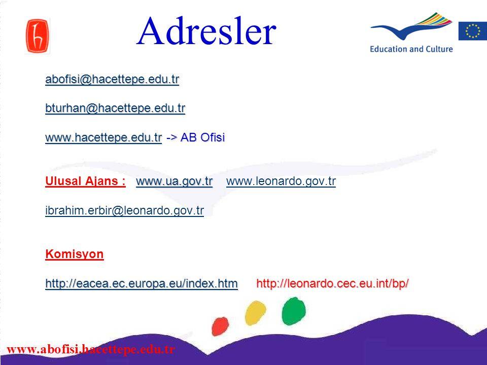 www.abofisi.hacettepe.edu.tr abofisi@hacettepe.edu.tr bturhan@hacettepe.edu.tr www.hacettepe.edu.trwww.hacettepe.edu.tr -> AB Ofisi www.hacettepe.edu.