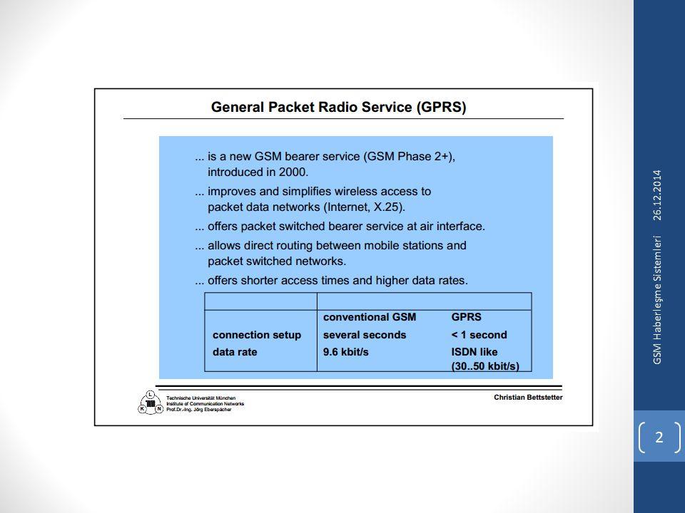 26.12.2014 GSM Haberleşme Sistemleri 2