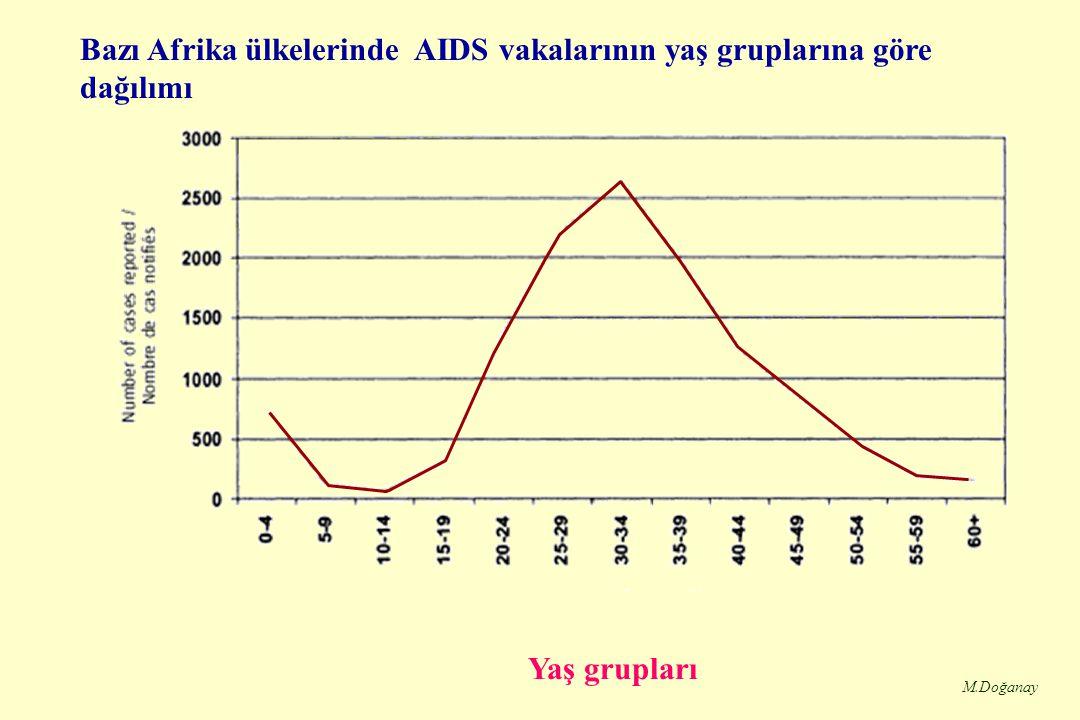 M.Doğanay Türkiye'de Bildirilen AIDS Vakaları ve Taşıyıcıların Yıllara Göre Dağılımı - I Yıllar VakaTaşıyıcıToplam 1985 112 1986 2 35 1987 7 2734 1988 9 2635 1989 11 2031 1990 141933 1991 172138 1992 283664